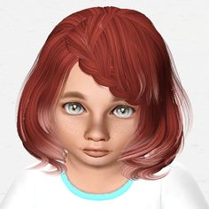 Peggy`s 877 hairstyle retextured by Sjoko for Sims 3 - Sims Hairs - http://simshairs.com/peggys-877-hairstyle-retextured-by-sjoko/