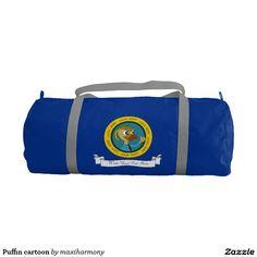 Puffin cartoon gym duffel bag
