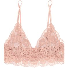 Hanky Panky Sophia stretch-corded lace soft-cup triangle bra (5,615 DOP) ❤ liked on Polyvore featuring intimates, bras, underwear, lingerie, antique rose, pull on bras, soft cup bra, hanky panky bra, hanky panky and lace bra