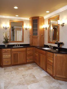 corner bathroom vanities