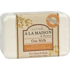 $5.39- A La Maison Bar Soap Oat Milk - 8.8 oz, The traditional recipe dates back to 1828 in France when Marseille soap masters developed the famous French milled process.