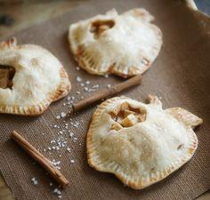 salted caramel apple mini pies