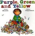 Purple, Green and Yellow by Robert Munsch, Illustrated by Helene Desputeaux - One of my ALL TIME favorite books as a kid Art Books For Kids, Childrens Books, Art For Kids, Most Popular Books, B 13, Thing 1, Children's Literature, Art Classroom, Classroom Ideas