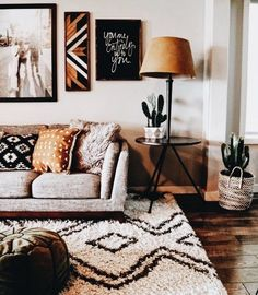 Boho living room home decor