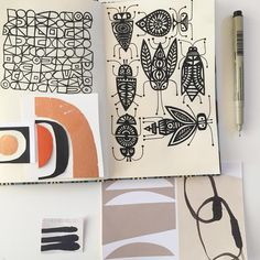 New micron pens. #sketchbook #patterndesign #collage #paperartist #paperart #collageartist #micronpen #printandpattern