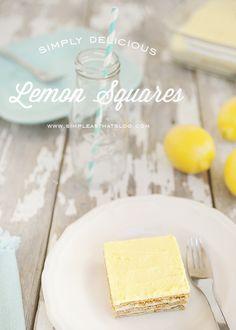Simple and Sweet No Bake Lemon Squares. #summer #lemon #recipes