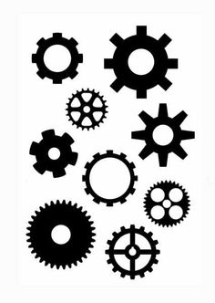 More Steampunk Gears Clear Stamp by tonjastreasures on Etsy, $7.99