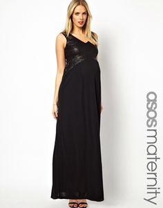 ASOS Maternity Maxi Dress in Sequin