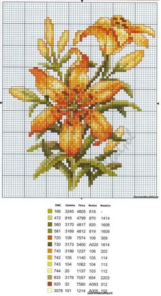 patterns of hand embroidery Free Cross Stitch Charts, Cross Stitch Cards, Cross Stitch Flowers, Counted Cross Stitch Patterns, Cross Stitch Designs, Cross Stitching, Cross Stitch Embroidery, Embroidery Patterns, Hand Embroidery