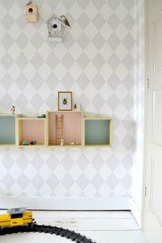 FRIVOLE INSTAGRAM Pepijn's boysroom Ferm Living wallpaper pastels