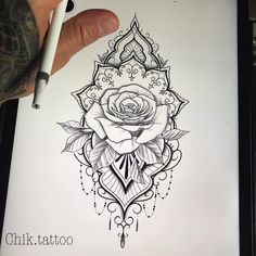 I have a place that is open for tomorrow. I want this model l m … - diy tattoo images Rose Tattoos, Flower Tattoos, Body Art Tattoos, Tattoo Drawings, New Tattoos, Hand Tattoos, Sleeve Tattoos, Female Leg Tattoos, Tatoos