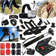 Included is the #Xtech® GOPRO Hero RUNNING, Jogging and Hiking ACCESSORIES Kit, the Kit includes the ULTIMATE ACCESSORIES for Filming RUNNING / Jogging Activitie...