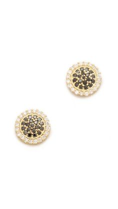 Jamie Wolf Pave Diamond Disc Earrings - These earrings have been worn by tons of celebs, including Anne Hathaway and Stacy Keibler. They are such an easy stud to wear and I love the mix of black and white diamonds.
