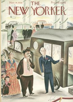The New Yorker - Saturday, November 14, 1936 - Issue # 613 - Vol. 12 - N° 39 - Cover by : Constantin Alajalov