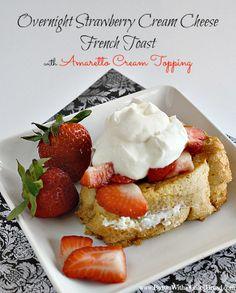 Overnight Strawberry Cream Cheese French Toast