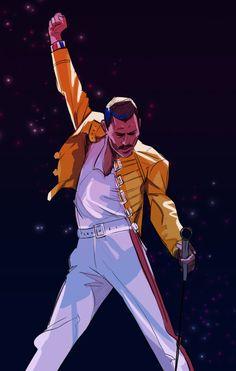 Freddie Mercury Michael Jackson, Freedie Mercury, Queen Drawing, Rock Band Posters, Queens Wallpaper, Queen Photos, Queen Art, Chor, Queen Freddie Mercury