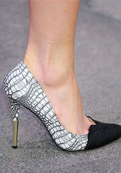 Christian Siriano Black White Gold #shoes, #women, #pinsland, https://apps.facebook.com/yangutu