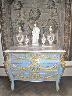 Rosenborg Castle: blue furniture