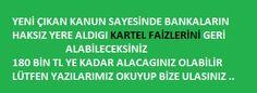 KARTEL FAİZİ