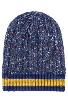 Фактурная шапка Gucci - Вязаная шапка-бини Gucci из ткани с шерстью шелком и альпакой в интернет-магазине модной дизайнерской и брендовой одежды