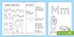 Învățăm litera M m Broșură cu activități