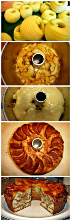 Learn step by step how to make this Apple Crown Cake. Make use of the ruby red pommes in abundance now. #applecake