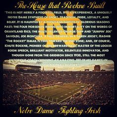 College Football Teams, Football Field, Notre Dame Apparel, Noter Dame, Knute Rockne, Notre Dame Irish, Go Irish, Notre Dame Football, Fighting Irish