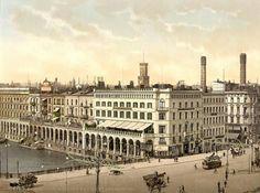 Historische Ansicht der Alsterarkaden um 1890.