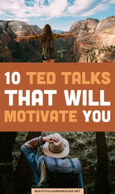 10 motivational TED talks that will boost your mood and inspire you. #tedtalks #motivation #inspiration
