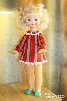 Кукла СССР, советская в платье