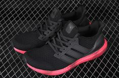 New Adidas Men/'s Ultraboost Rainbow Running Shoes Sneakers Black//Red FV7282