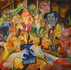 """Family Constellations"" by Ezequiel Rosenfeldt (2016, oil on canvas, 200 x 200 cm) @riccilastiri Be Smart By Art"