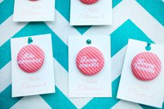 DIY button escort cards