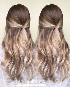 10 Blonde Balayage Hair Color Ideas in Beige Gold Silver & Ash - Hairstyles Weekly