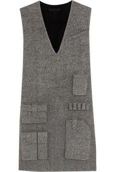 Alexander Wang Wool-blend twill mini dress | NET-A-PORTER $895