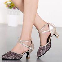 NEW Women Ladies Ballroom Latin Dance Shoes Heels Rumba Cha Cha Tango Salsa…
