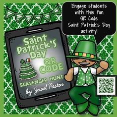 """St. Patrick's Day {St. Patrick's Day QR Code Scavenger Hunt}Engage your students this Saint Patrick's Day with this """"Saint Patrick's Day QR Code Scavenger Hunt"""" activity.Page 3 contains Materials, Preparation, Activity and Management Tips.Pages 4-5 highlight the Saint Patrick's Day Questions Worksheet.Pages 6-20 are composed of the Saint Patrick's Day QR Code cards."""