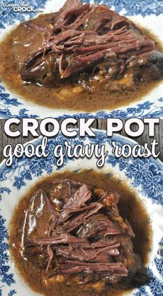 Crock Pot Good Gravy Roast - Recipes That Crock! This Crock Pot Good Gravy Roast is an easy dump-and-go recipe that gives you an incredibly delicious gravy, all day cooking time AND fall-apart tender meat! Chuck Roast Recipes, Pot Roast Recipes, Meat Recipes, Cooker Recipes, Crock Pot Roast Gravy Recipe, Recipes With Beef Gravy, Gravy For Roast, Recipe For Chuck Roast, Cooking Chuck Roast