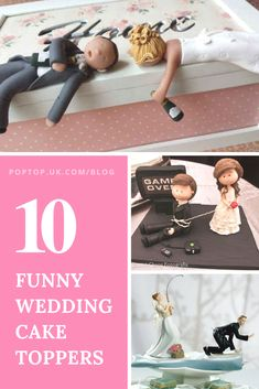Funny Wedding Cake Toppers To Make Your Day Extra Special - cool wedding cakes Funny Wedding Cake Toppers, Cake Topper Wedding, Cake Wedding, Wedding Shoes, Dream Wedding, Wedding Rings, Wedding Dresses, Funny Cake Toppers, Monogram Cake Toppers