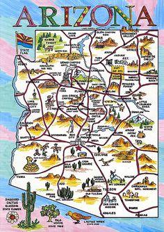 Arizona Fun Map Httpwwwamericadeusaarizona Maps - Arizona map