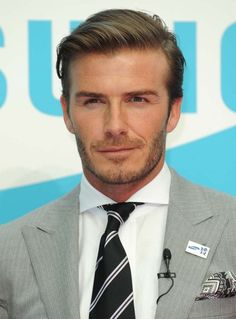 Image result for david beckham short and straight hairstyle