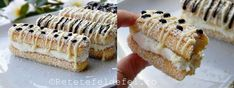 PRAJITURA DIN PISCOTURI CU CREMA DE MASCARPONE - Rețete Fel de Fel Krispie Treats, Rice Krispies, Sushi, Deserts, Cooking Recipes, Ethnic Recipes, Food, Sweet Treats, Country
