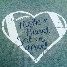 Hustle and Heart Bling Football Shirt, Football Mom Shirt, Football Shirt…