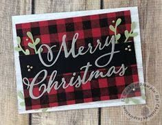 Image Result For Stampin Up Buffalo Check Card Ideas Diy Christmas Cards Homemade Christmas Cards Homemade Holiday Cards