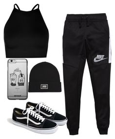 """""""Untitled #4"""" by rooloyola on Polyvore featuring Boohoo, NIKE, J.Crew and Vans"""