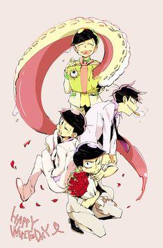 Osomatsu-san- Karamatsu, Choromatsu, Ichimatsu, and Todomatsu #Anime「♡」