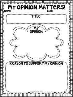 My Opinion Matters!  Detailed lessons for opinion writing for 1st and 2nd graders.  $ #minilessons #opinionwriting #writersworkshop
