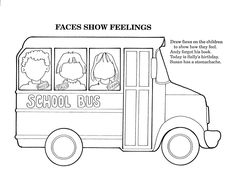 School Bus Safety Coloring Pages … | Pinteres…