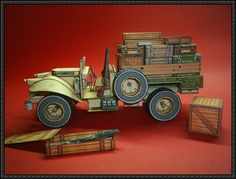 WWII Bedford Military Truck Free Paper Model Download