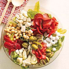 Antipasto Salad Recipe | MyRecipes.com Mobile Didn't use pepperoni but added banana peppers.